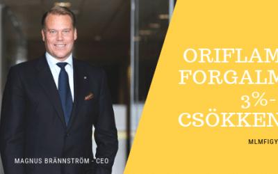 Az Oriflame forgalma 3%-al csökkent 2018-ban