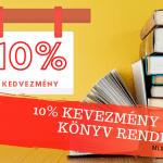 10% Kedvezmény Minden Könyvből