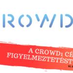 A Crowd1 ellen újabb figyelmeztetést adtak ki